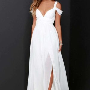 Bariano Ocean of Elegance Ivory Maxi Dress
