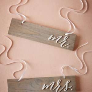 BHLDN - Driftwood Chair Signs