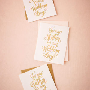 BHLDN - Foil Script Wedding Day Card