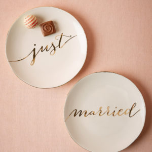 Just Married Plates