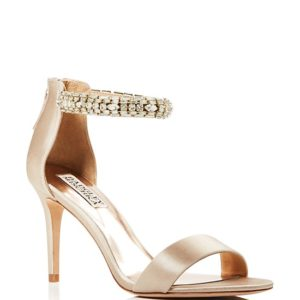 Badgley Mischka Carlotta Embellished Ankle Strap Sandals