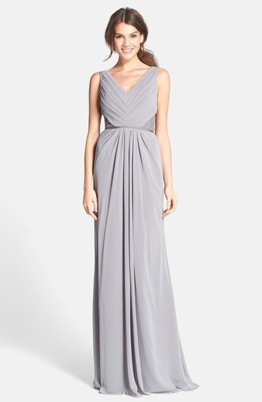Bridesmaids Lace Back Chiffon Gown