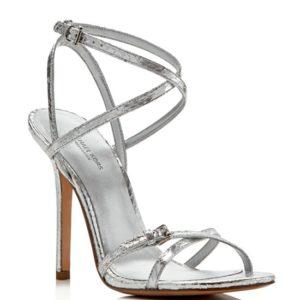 Michael Kors Jennie Metallic Strappy High Sandals