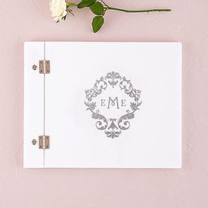 Monogram Simplicity Personalized Guest Book