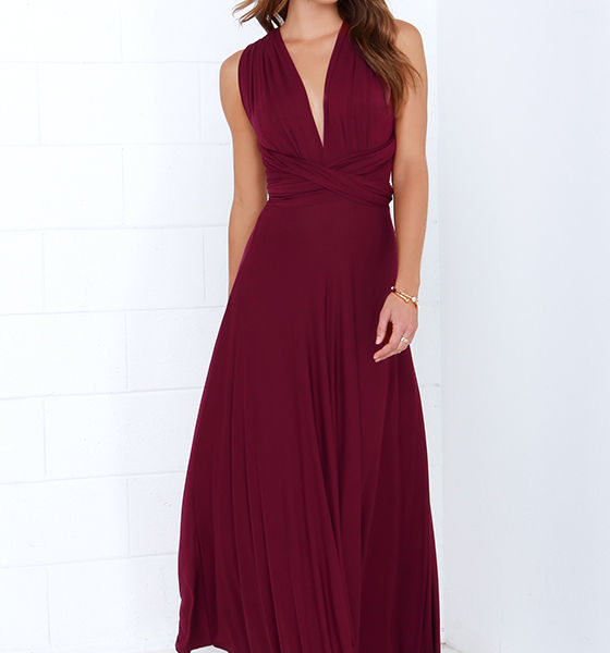 lulu - LULUS Exclusive Tricks of the Trade Burgundy Maxi Dress at Lulus.com!