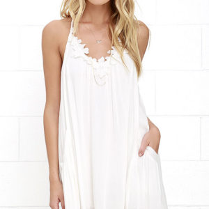 lulu - Lily Love Ivory Shift Dress