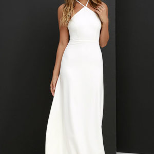 lulu - Tour de Force Ivory Maxi Dress