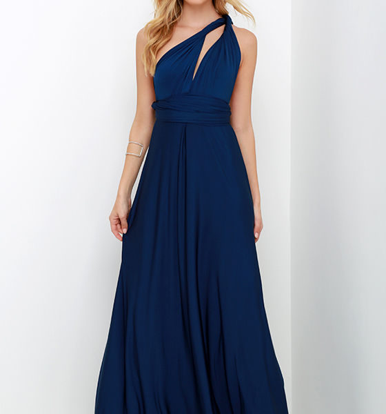 lulu - Always Stunning Convertible Navy Blue Maxi Dress