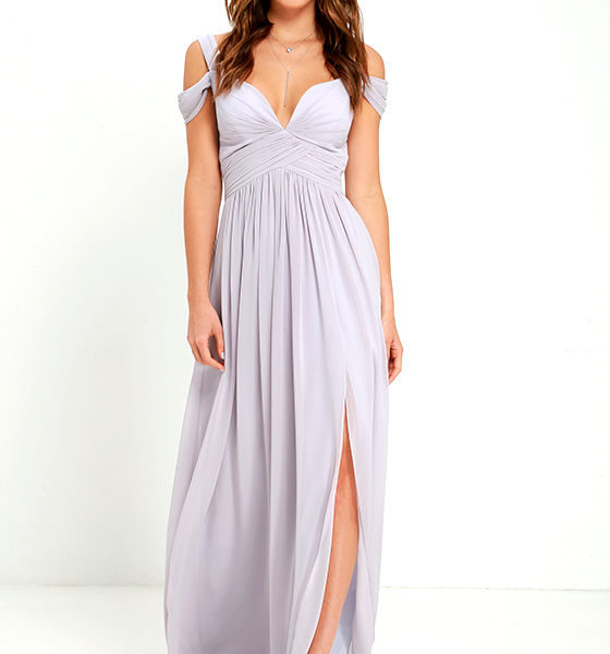 Bariano Ocean of Elegance Grey Maxi Dress