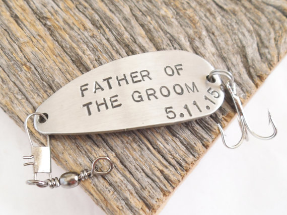 Father of the Groom Personalized Fishing Lure