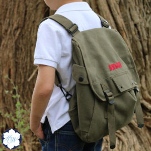 Personalized Ring Bearer Vintage Backpack