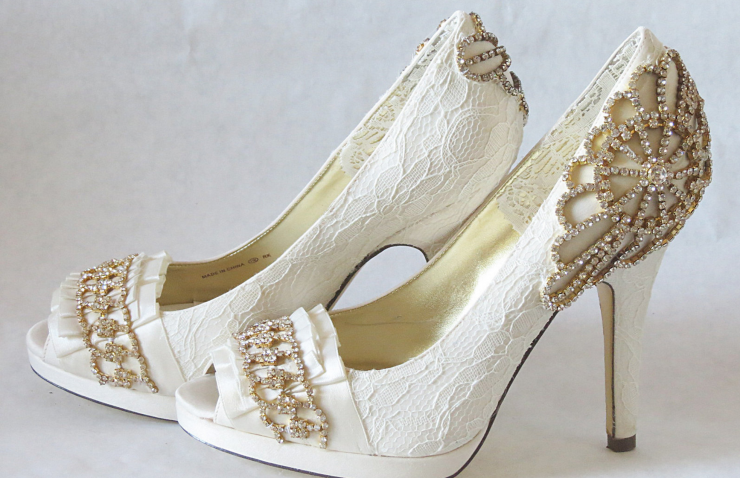 Handmade Couture Wedding Shoes - It Started With Yes!