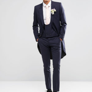 Selected Homme Stretch Skinny Navy Wedding Suit