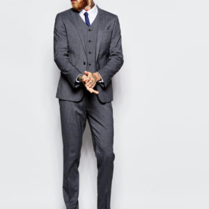 Skinny Suit With Stretch In Charcoal