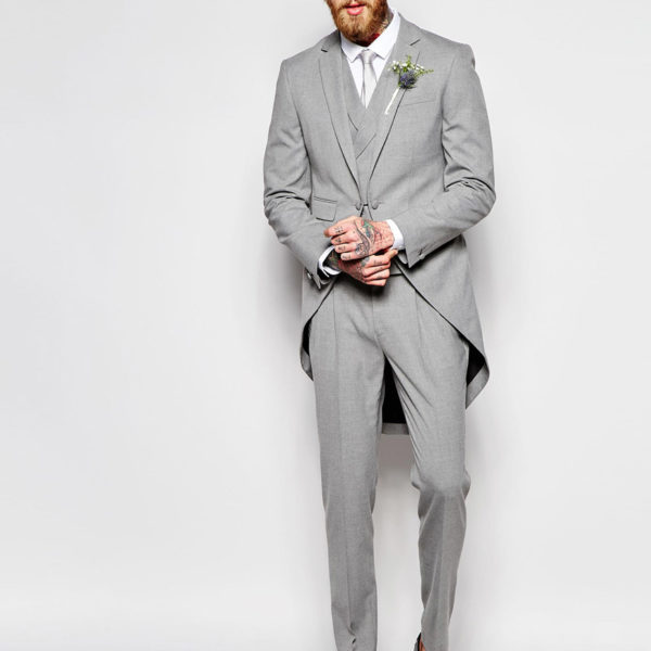 Skinny Suit with Tails in Gray