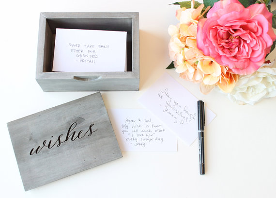 Wedding Wishes Guestbook Box