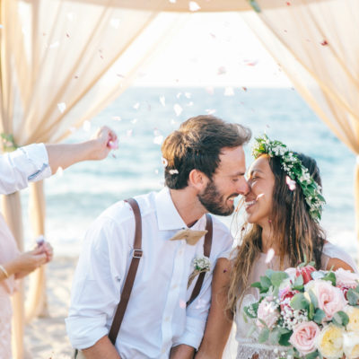 Bright Boho Beach Wedding in Crete