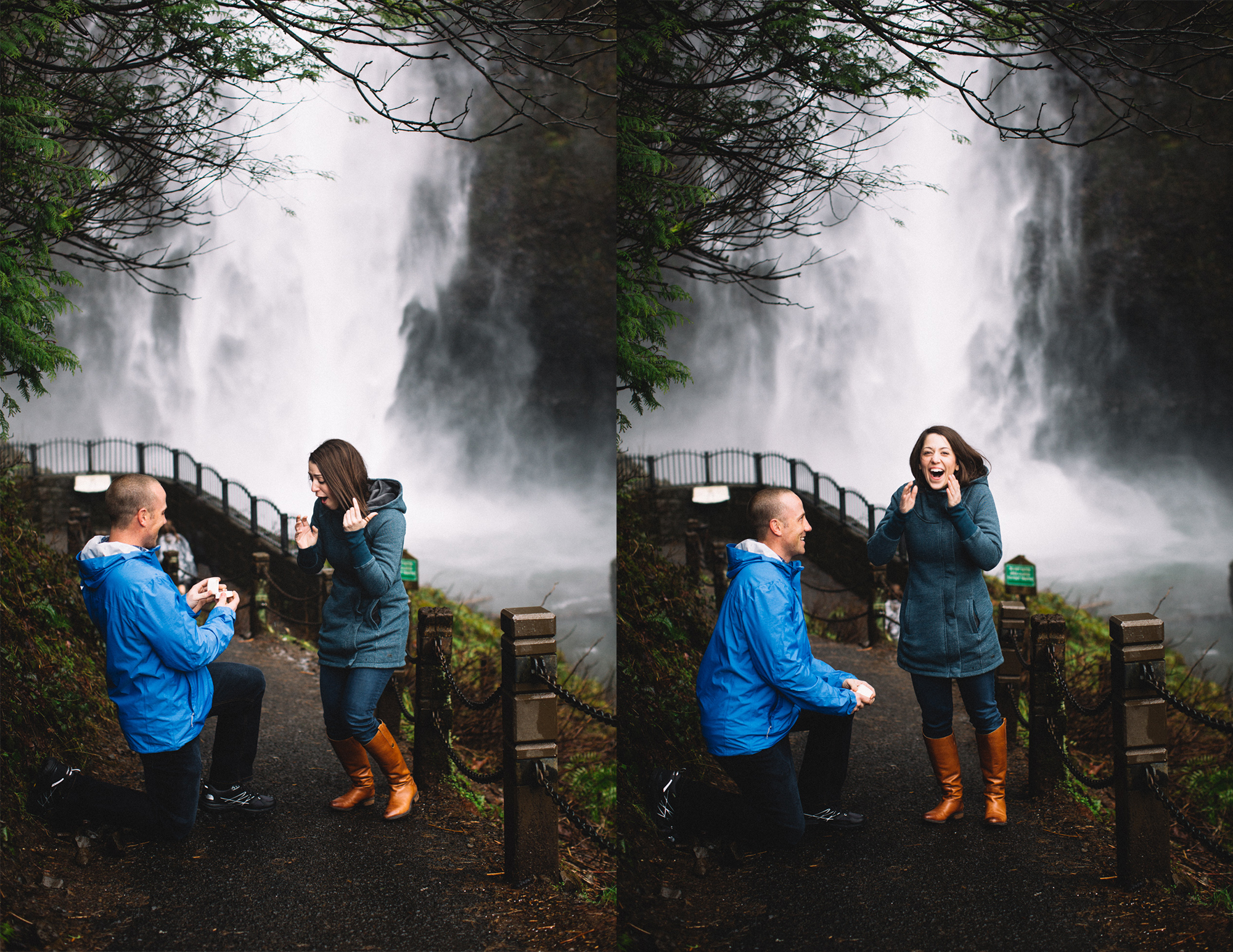 Ely Roberts Oregon Wedding Photographer Proposal And Multnomah Falls